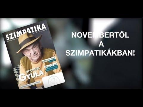 Bodrogi Gyula a novemberi Szimpatika magazin címlapján!