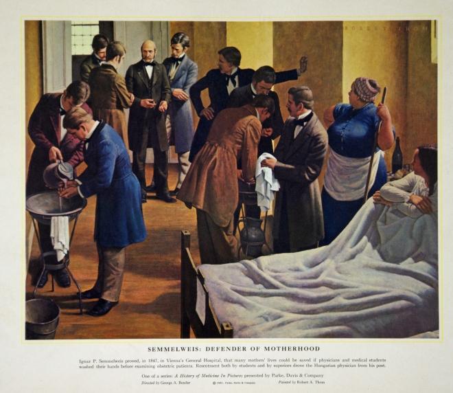 Már Semmelweis is figyelmeztetett a fertőtlenítés fontosságára