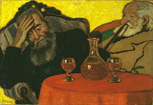 Apám és Piacsek bácsi vörösbor mellett