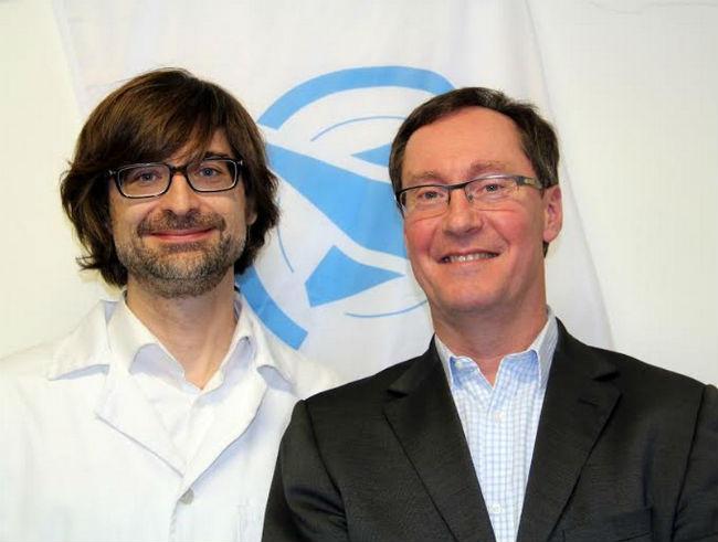 Dr. Peták István és Fédéric Ollier