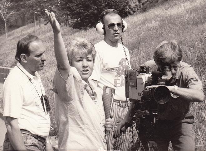 A Kölyökidő forgatásán – 1990, fotó: Sárospataki Györgyi