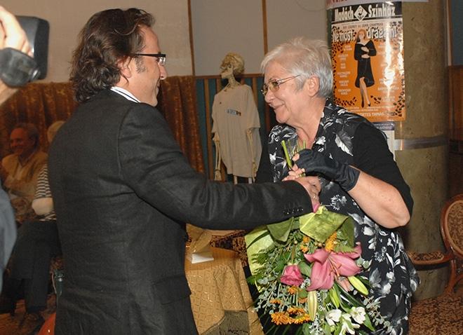 Gaskó Balázs búcsúztatja az önkéntes nyugdíjba küldés után – 2006, fotó: Zih Zsolt