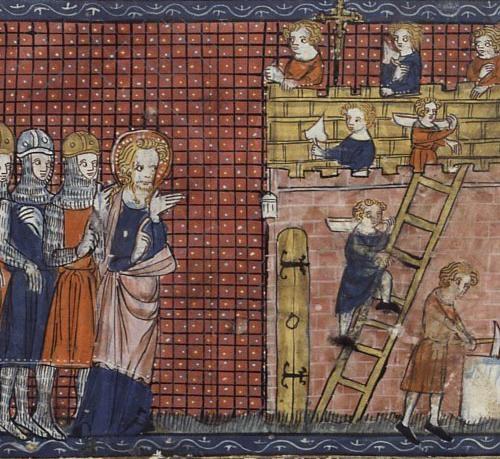 Terni Szent Bálint és tanítványai egy 14. századi kéziratban