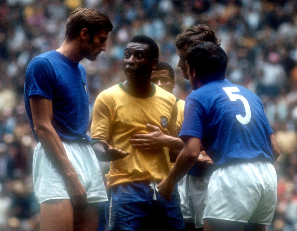 Pelé az 1970-es vb-döntőben, Fotó: AFP/Europress